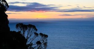 Coucher du soleil de la Nouvelle Zélande Images libres de droits