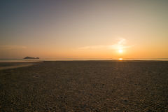 Coucher du soleil de la plage Photo stock