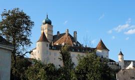 coucher du soleil de la Renaissance de château Image stock