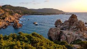 Coucher du soleil de la Sardaigne Photos libres de droits