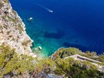 Coucher du soleil de la Sardaigne Images libres de droits