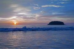 Coucher du soleil de la Thaïlande Photos libres de droits