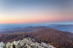 Coucher du soleil de la Virginie Photos libres de droits