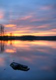 Coucher du soleil de lac Photo libre de droits