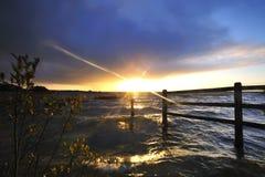 coucher du soleil de lac d'ennel Photos libres de droits