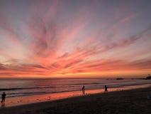 Coucher du soleil de Laguna Beach Photo libre de droits
