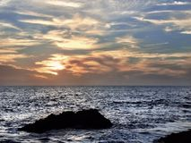 Coucher du soleil de Laguna Beach Photographie stock
