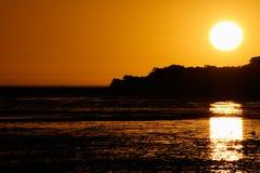 Coucher du soleil de lagune Images stock