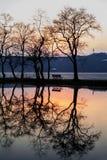 Coucher du soleil de Lakeside Photos libres de droits