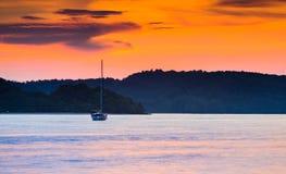 Coucher du soleil de Langkawi photographie stock
