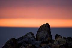 coucher du soleil de lave Image libre de droits