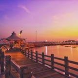 coucher du soleil de lever de soleil de matin de plage image libre de droits