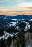 Coucher du soleil de lever de soleil de montagne rocheuse du Colorado photos stock