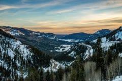 Coucher du soleil de lever de soleil de montagne rocheuse du Colorado photo libre de droits