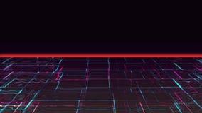 Coucher du soleil de liquide de Cyber clips vidéos