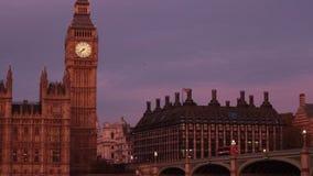 Coucher du soleil de Londres banque de vidéos