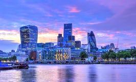 Coucher du soleil de Londres Photographie stock
