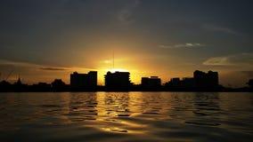 coucher du soleil de lueur Photographie stock libre de droits