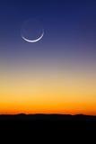 Coucher du soleil de lune Images stock