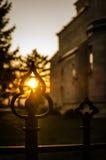 Coucher du soleil de mai photographie stock