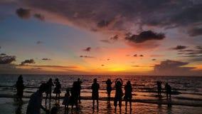 Coucher du soleil, coucher du soleil de Malaisie photos libres de droits