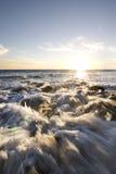 Coucher du soleil de Malibu photographie stock