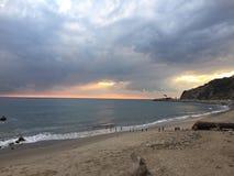 Coucher du soleil de Malibu image libre de droits