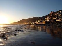 Coucher du soleil de Malibu Topanga Image libre de droits