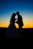 Coucher du soleil de mariage Photos stock