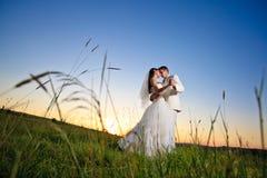Coucher du soleil de mariage Image libre de droits