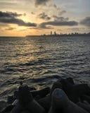 Coucher du soleil de marines Images libres de droits