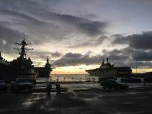 Coucher du soleil de marins Photographie stock libre de droits