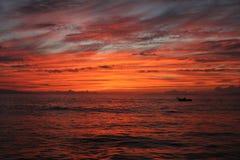 Coucher du soleil de Maui Image libre de droits