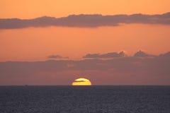 Coucher du soleil de Maui Photo libre de droits