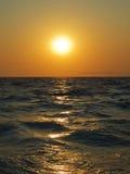 Coucher du soleil de mer Égée photo libre de droits