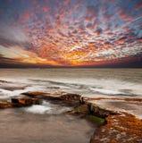 Coucher du soleil de mer images libres de droits