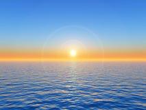 Coucher du soleil de mer Photo libre de droits
