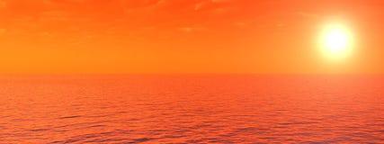 Coucher du soleil de mer illustration stock