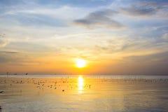 Coucher du soleil 5 de mer Photos libres de droits
