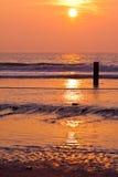 coucher du soleil de mer Photos stock