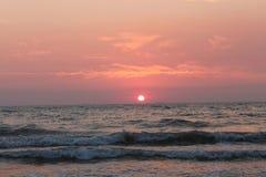 Coucher du soleil de Mer Adriatique Photographie stock libre de droits