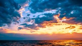 coucher du soleil de mer baltique images libres de droits