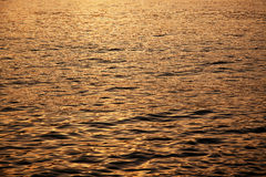coucher du soleil de mer calme Photo stock