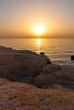 Coucher du soleil de mer en Egypte image stock