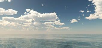 Coucher du soleil de mer Panorama Images stock