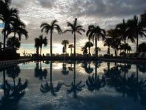 Coucher du soleil de Miami Photos libres de droits