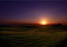 Coucher du soleil de Midwest Photos libres de droits