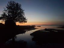 Coucher du soleil de minuit Photographie stock libre de droits