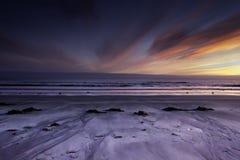 Coucher du soleil de minuit Photographie stock
