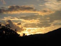 Coucher du soleil 3 de mitchel de bâti Images libres de droits